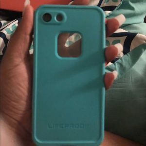 new product 2aabb fb1f5 iPhone 7 LifeProof FRE case (teal/ sunset bay) NWT